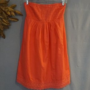 J. Crew Sleeveless Orange Cotton Dress - Size 6